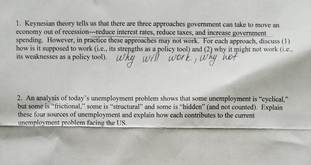 explain keynesian theory