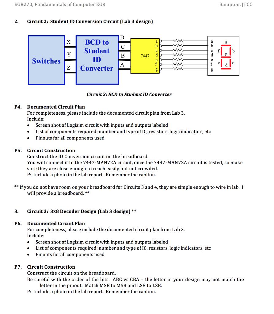 EGR270, Fundamentals Of Computer EGR Bampton, JTCC... | Chegg.com
