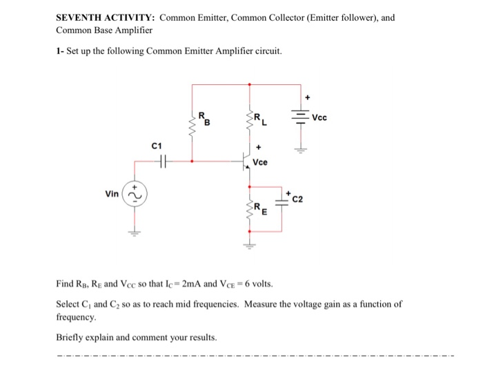 solved seventh activity common emitter, common collector