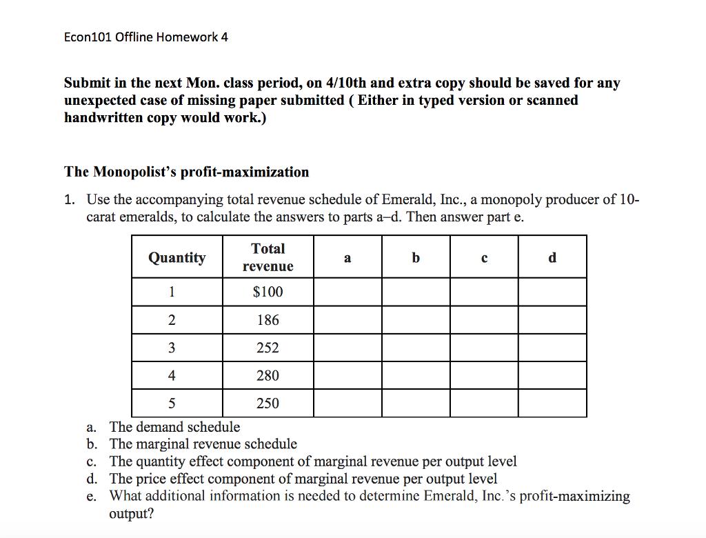 econ 101 submit Econ 2010: principles of microeconomics practice hw assignments (pdf files) practice hw answer keys (pdf files) quiz answer keys (pdf files.
