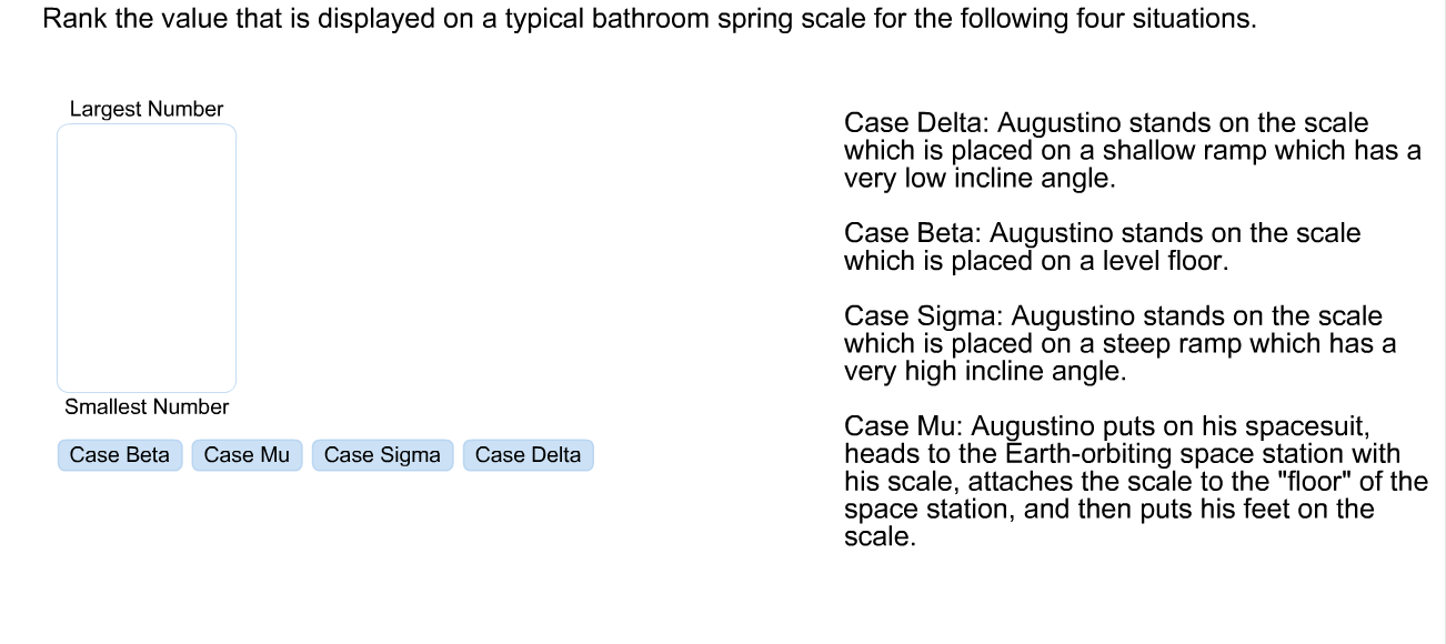 Solved: Case Delta: Augustino Stands On The Scale Which Is