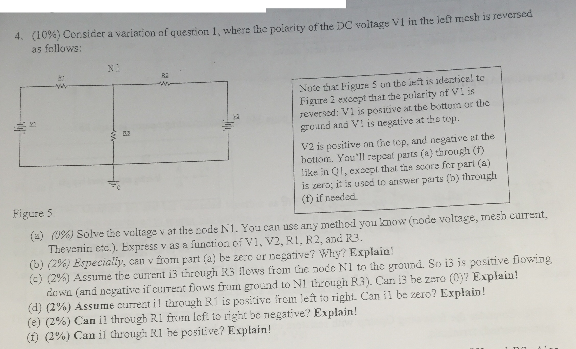 Solved: Consider A Variation Of Question 1, Where The Pola ...