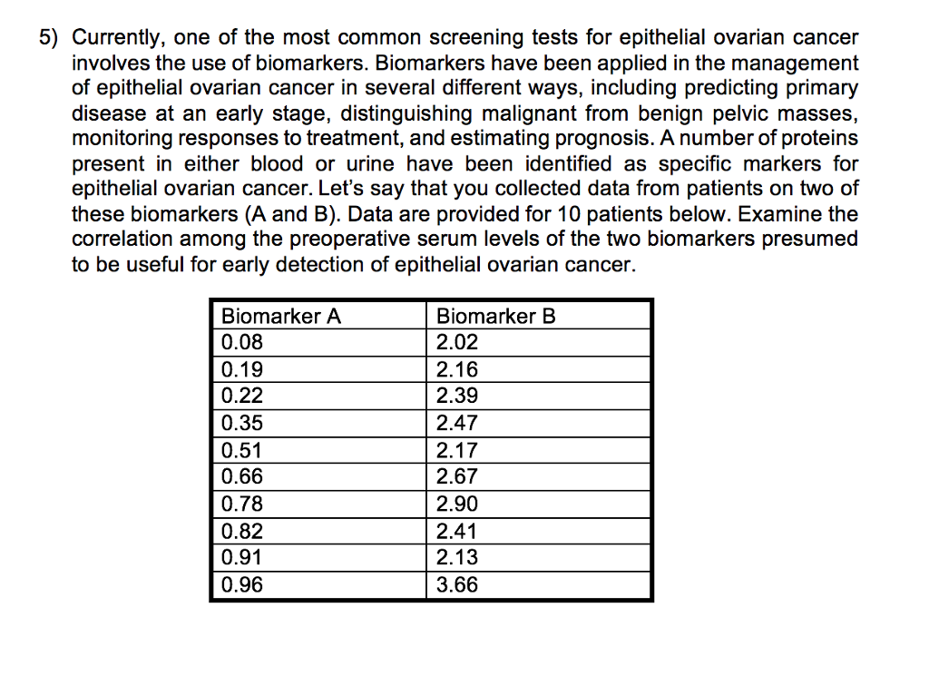 Solved 5 Currently One Of The Most Common Screening Tes Chegg Com