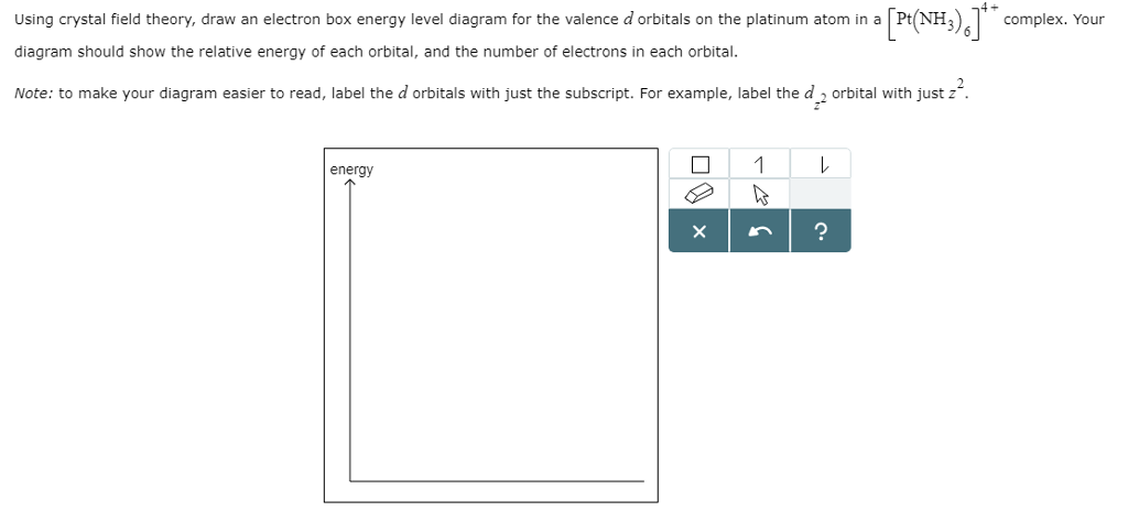Valence diagram platinum diy wiring diagrams solved using crystal field theory draw an electron box e rh chegg com draw electron dot diagrams what are dot diagrams ccuart Image collections