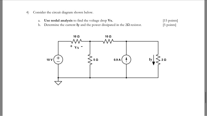 solved 4 consider the circuit diagram shown below a us rh chegg com circuit diagram analysis Site Architect Diagrams