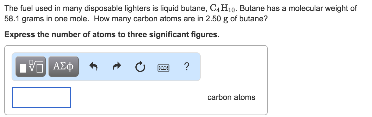molecular weight of butane