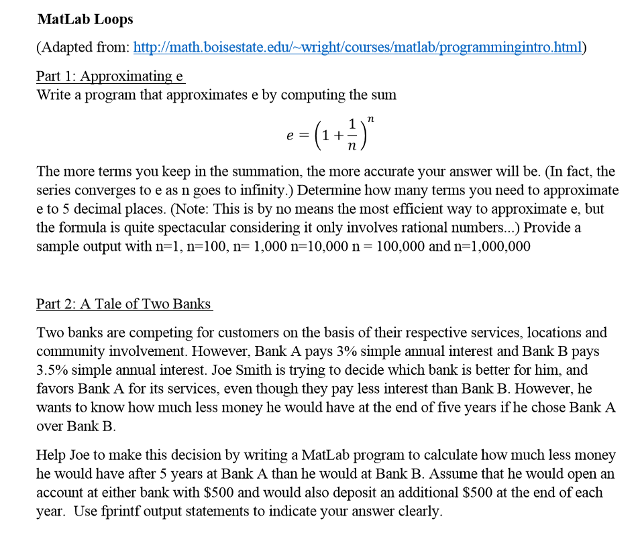 Solved: MatLab Practice Using Loops: I Know Logically How