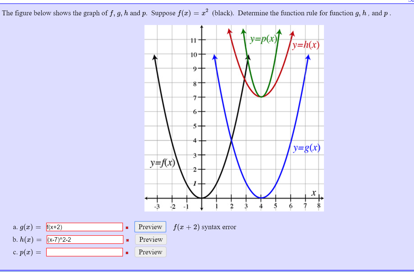 F X H F X H Calculus: Solved: The Figure Below Shows The Graph Of F, G, H And P