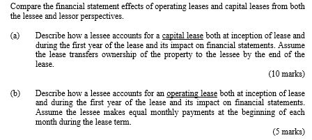 which one of these conditions must be met for a lease to qualify as a capital lease Answer to which one of these conditions must be met for a lease to qualify as a capital lease.