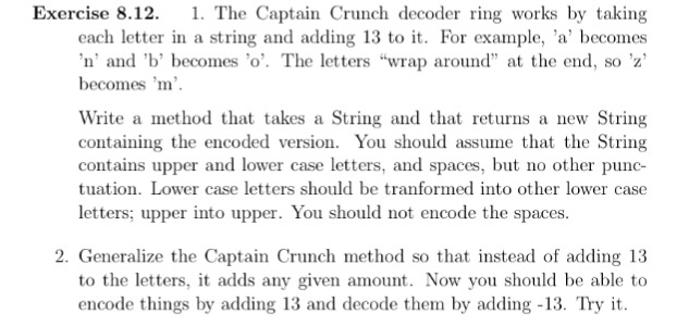 Solved Exercise 812 1 The Captain Crunch Decoder Ring