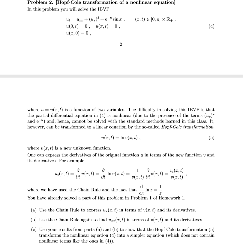 Solved: Any Help With This Partial Differential Equations