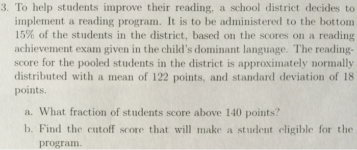 Solved: To Help Students Improve Their Reading, A School D