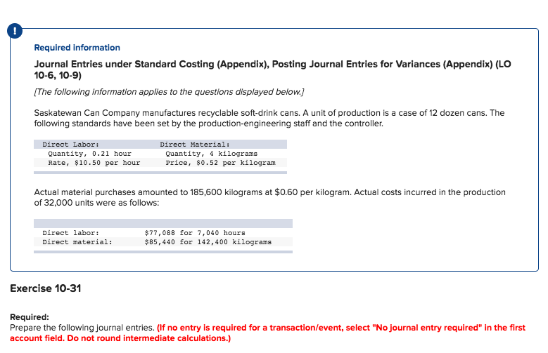 Solved Required Information Journal Entries Under Standar