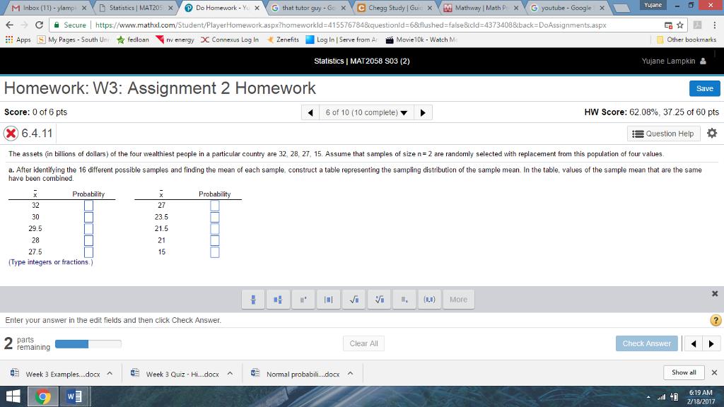 Solved: X MC Chegg Study L Guic X MM Mathway I Math Pr X G ... on