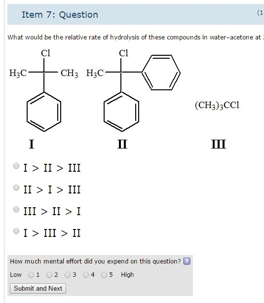 Solved What Would Be The Relative Rate Of Hydrolysis Of T