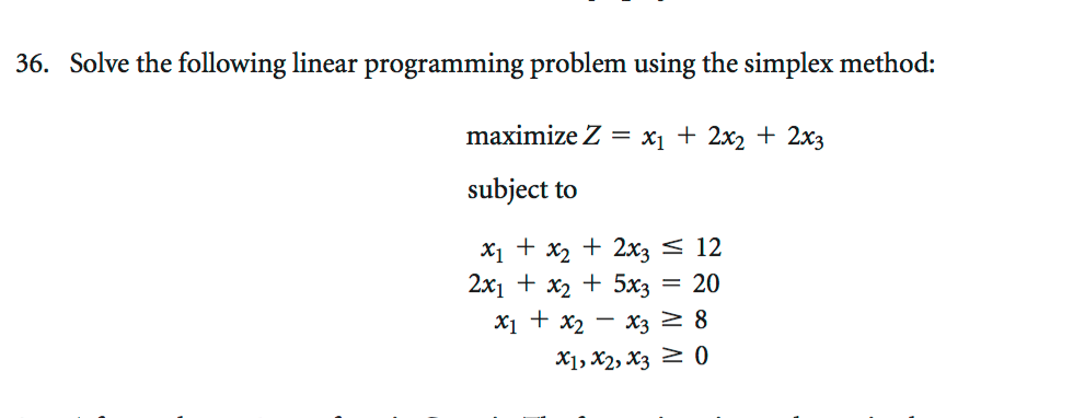 solve linear programming problems
