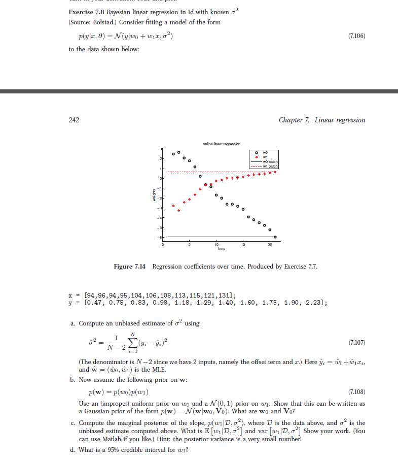 Solved: Exercise 7 8 Bayesian Linear Regression In Id With