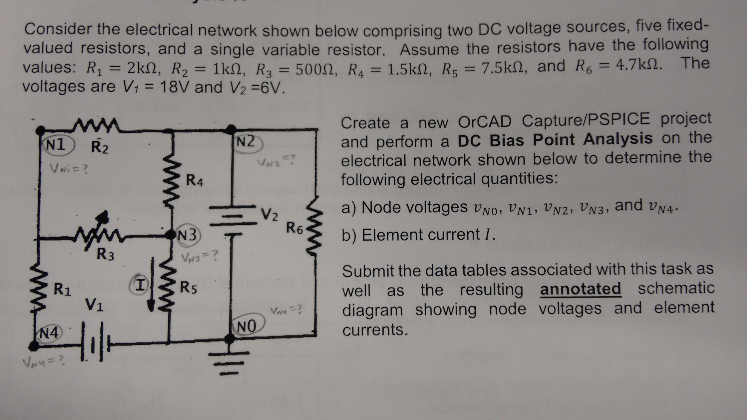 Solved Use Nodal Analysis Only To Find Asked Unknowns Ig Circuit Diagram Of The Project Is Shown Below Consider Electrical Network Compri