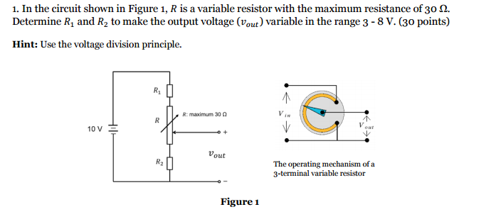 Solved: In The Circuit Shown In Figure 1, R Is A Variable ...