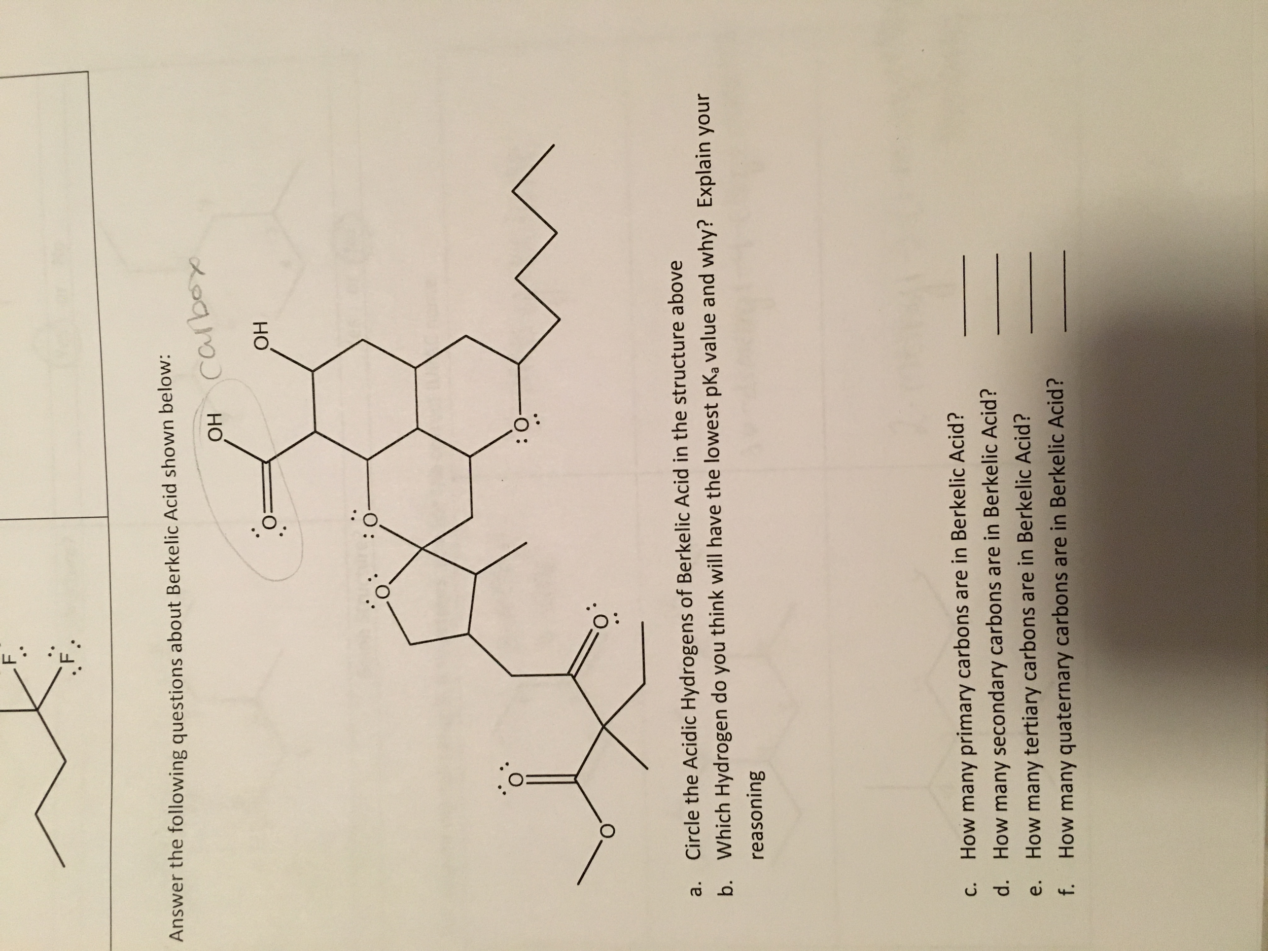 Chemistry archive february 17 2016 chegg answer the following questions about berkelic acid robcynllc Image collections