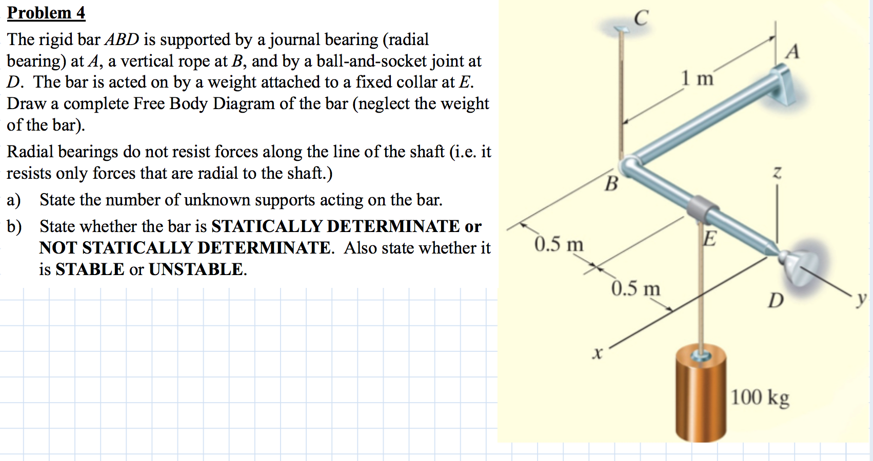 Civil D Draw Line Bearing Distance : The rigid bar abd is supported by a journal bearin