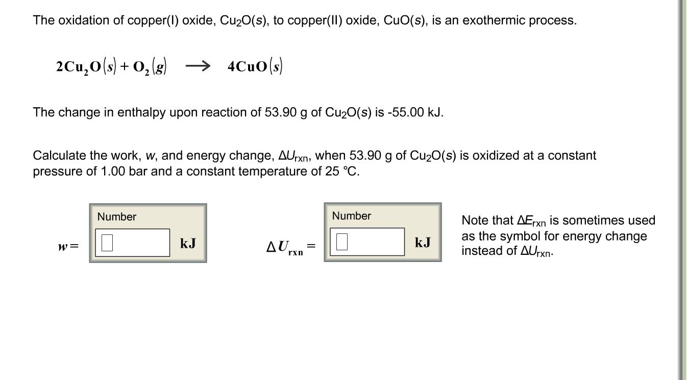 Solved The Oxidation Of Copperl Oxide Cu2os To Cop
