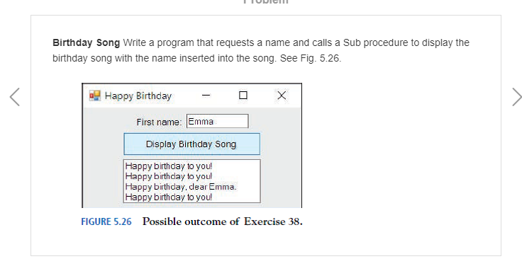 Solved: Birthday Song Write A Program That Requests A Name