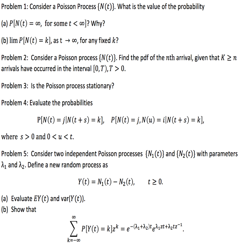poisson process homework solutions