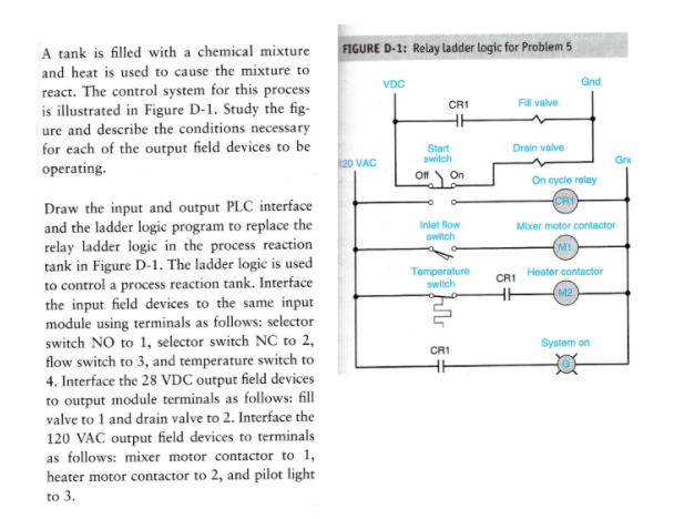 A tank is filled with a chemical mixture figure d chegg a tank is filled with a chemical mixture figure d 1 relay ladder logic ccuart Choice Image