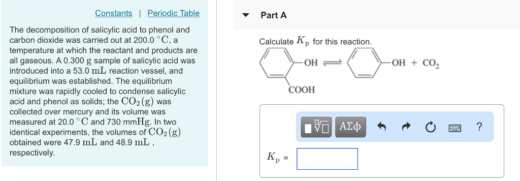 Solved Constants Periodic Table Part A The Decompositi