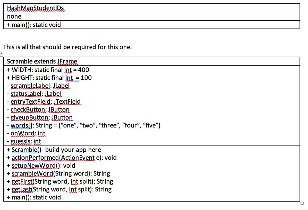 Write An Application Called Scramble That Has A GU    | Chegg com