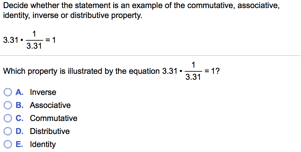Solved Decide Whether The Statement Is An Example Of The