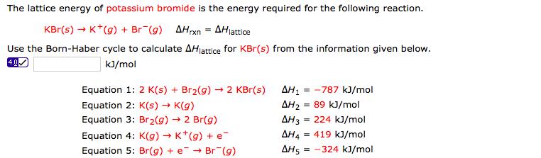 Lattice Energy