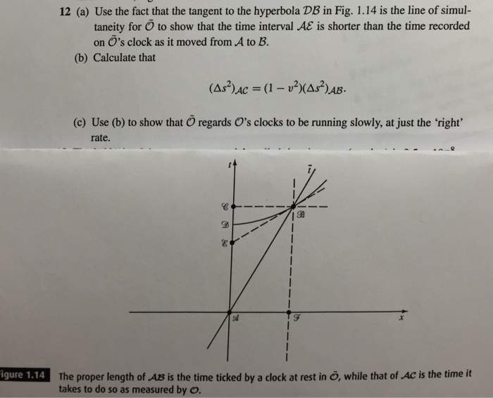 Use the fact that the tangent to the hyperbola DB