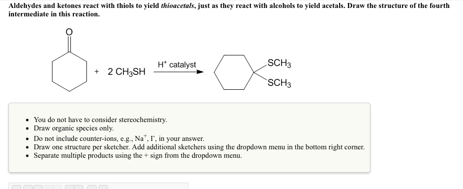 Solved: Aldehydes And Ketones React With Thiols To Yield T