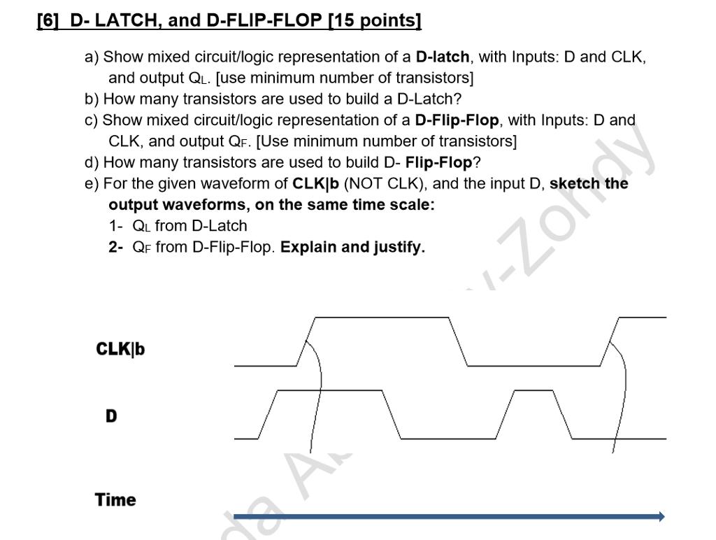 Solved 6 d latch and d flip flop 115 points a show 6 d latch and d flip flop 115 points pooptronica Gallery