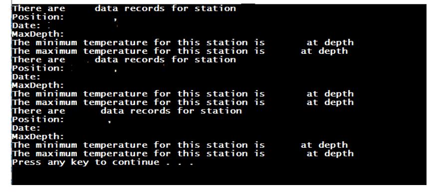 Please Use C++ Programming!! < XBT Data > In Ocean