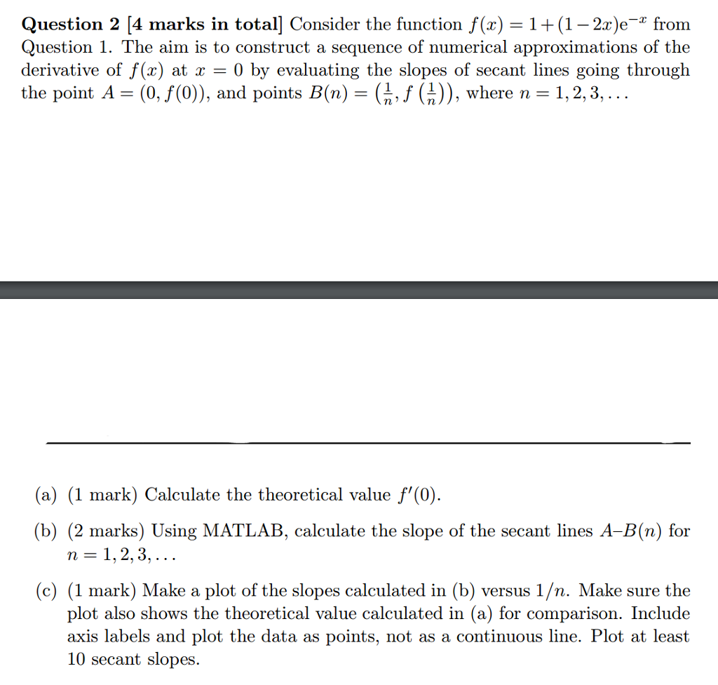 Question 2 4 Marks In Totall Consider The Function F(z) 1+