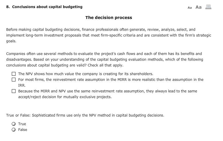 benefits of capital budgeting