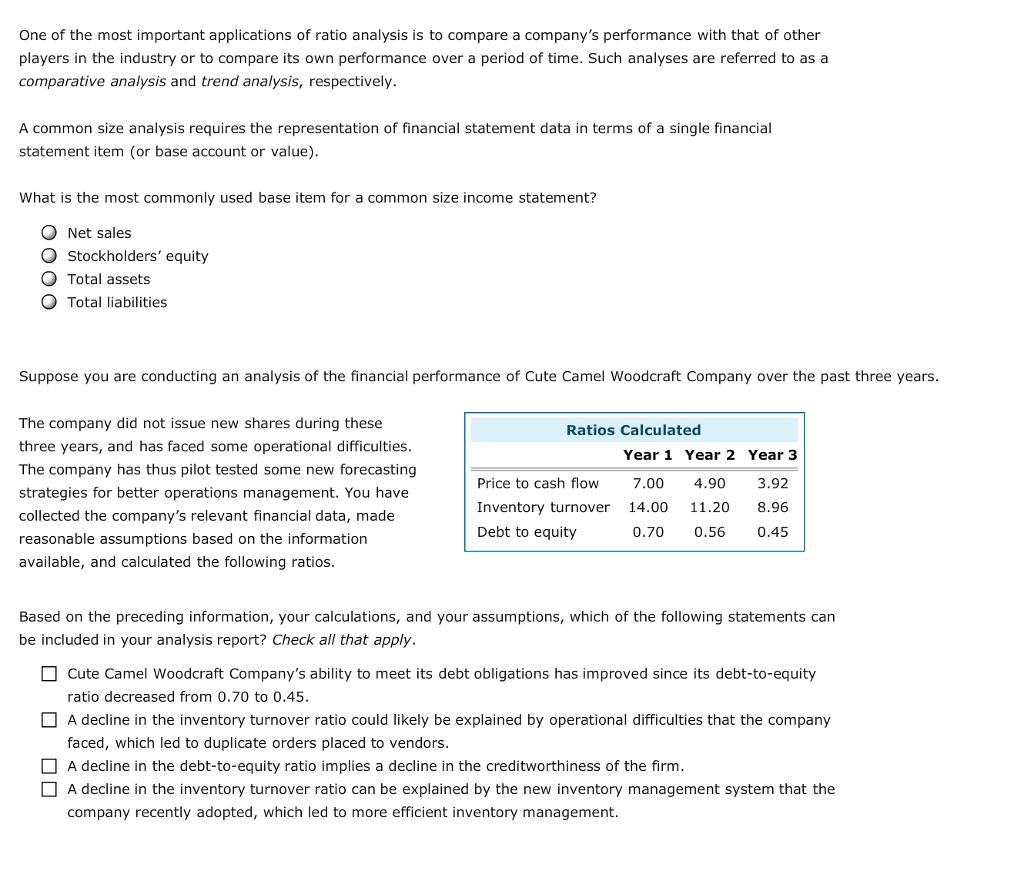 ratio analyses conducted at sakk