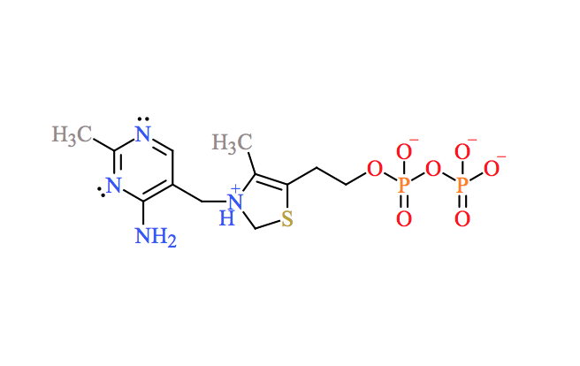 Solved Complete The Electron Dot Structure Of Thiamine Py