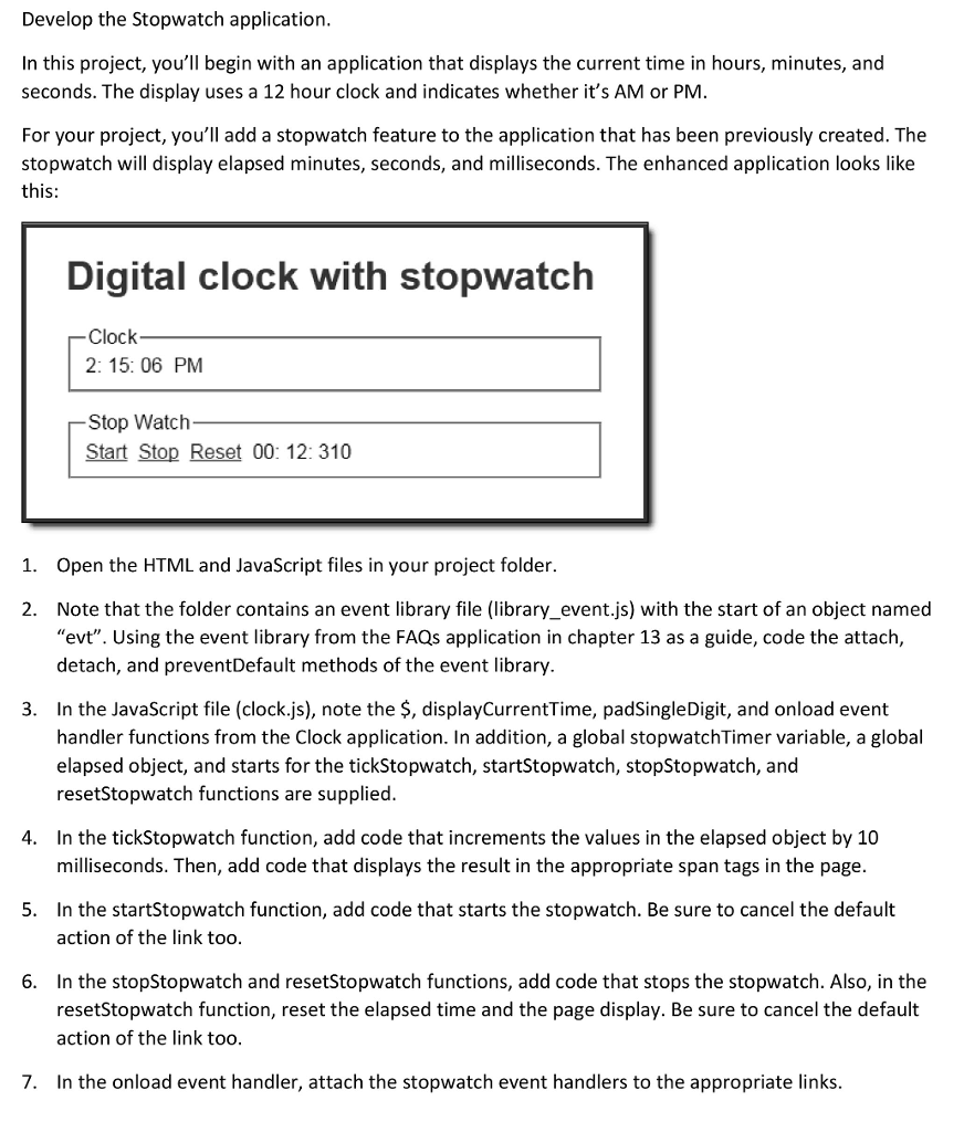 Solved: *******HTML******** Clock Digital Clock With Stopw