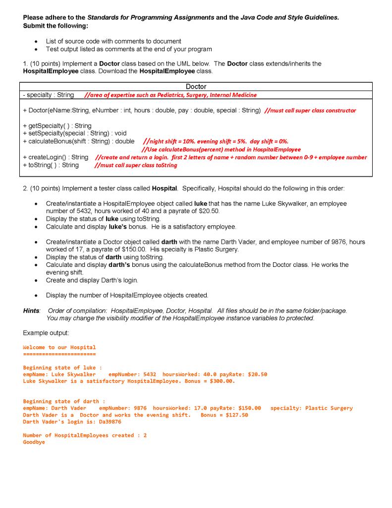 Solved: HospitalEmployee Inheritance Help Please  Import J