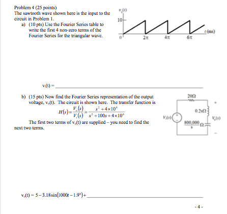 Solved: The Sawtooth Wave Shown Here Is The Input To The C