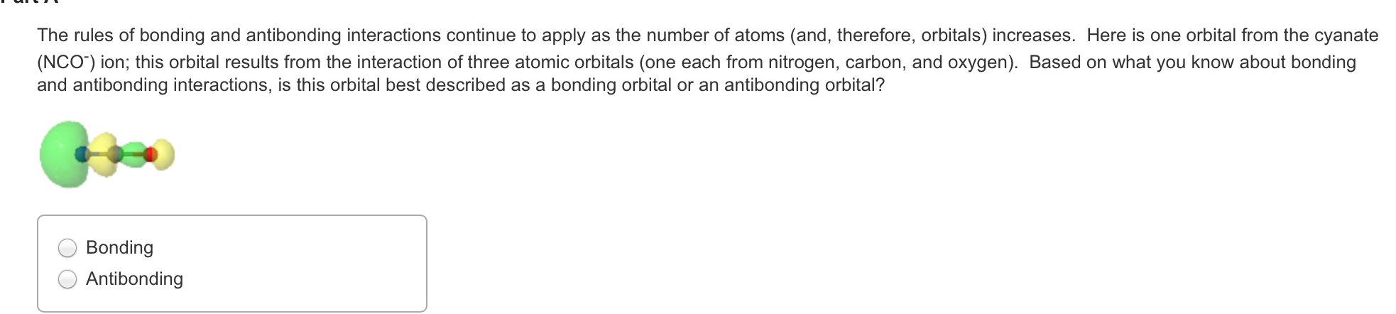 Chemistry archive february 07 2016 chegg the rules of bonding and antibonding interactions continue to apply as the number of atoms and therefore orbitals increases pooptronica