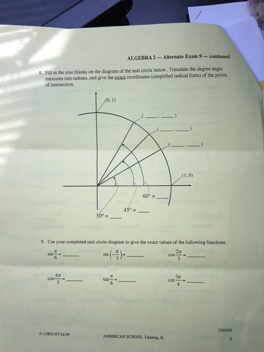Solved fill in the nine blanks on the diagram of the unit fill in the nine blanks on the diagram of the unit ccuart Images