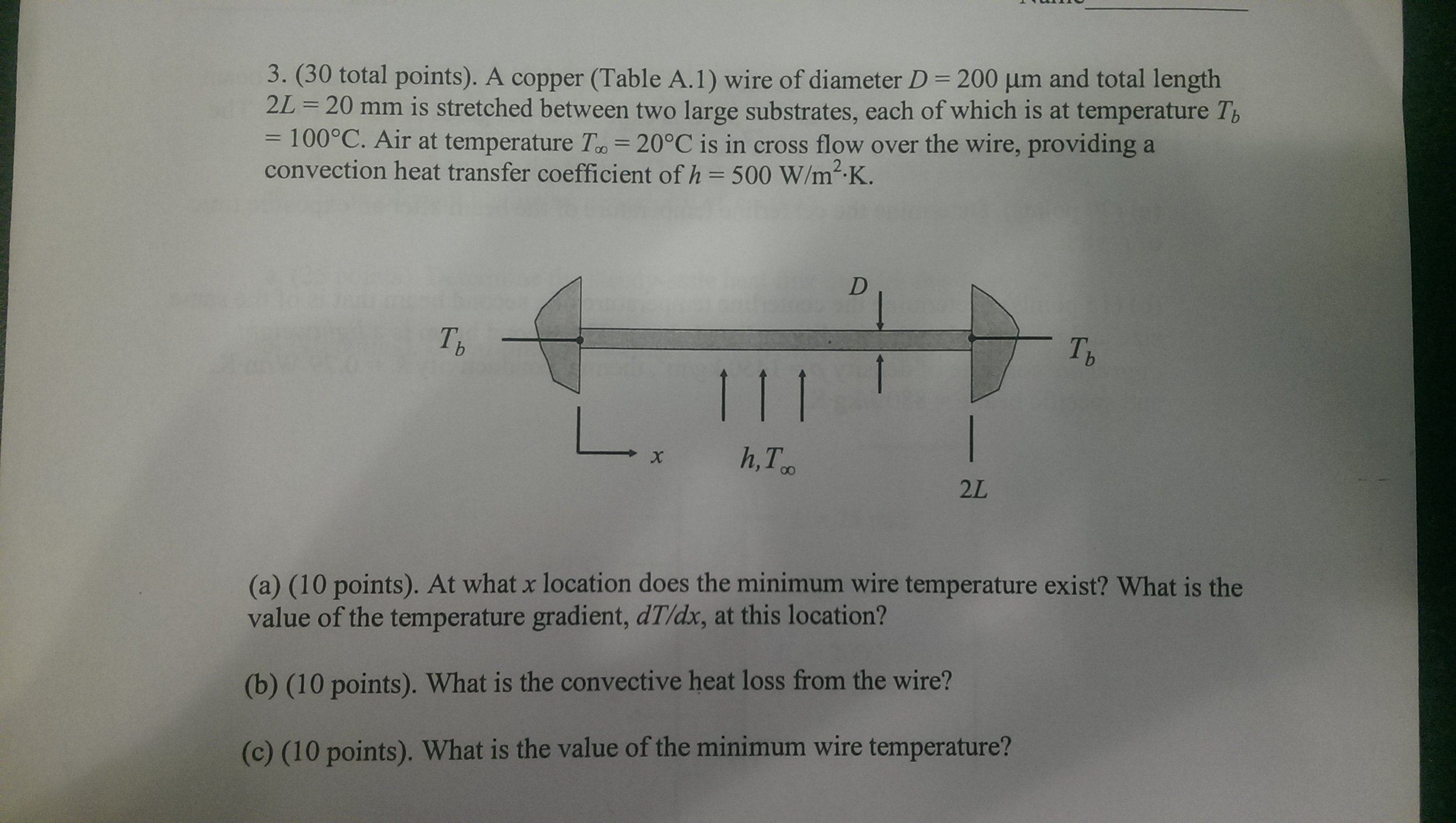 Solved: A Copper (Table A. 1) Wire Of Diameter D = 200 Mu ...