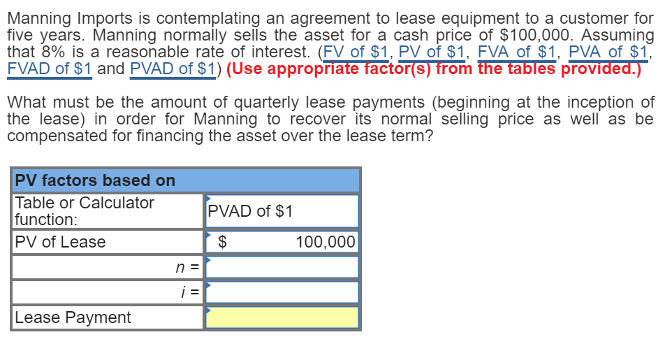 Solved Manning Imports Is Contemplating An Agreement To L