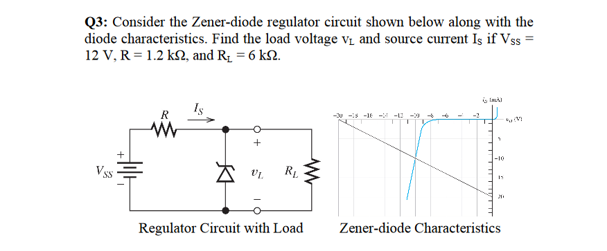 solved consider the zener diode regulator circuit shown b rh chegg com