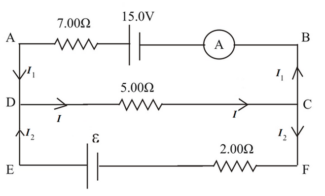 Solved In The Circuit Shown Below Current Flows Through